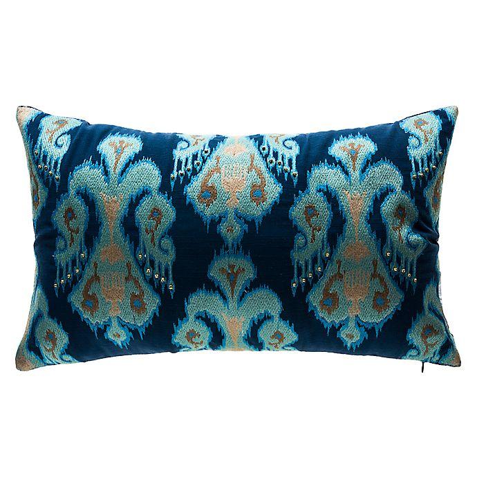 Alternate image 1 for Bombay® Tribal Medallion Outdoor Lumbar Pillow in Indigo