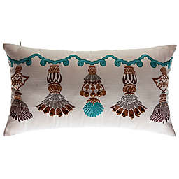 Bombay® India Tassels Outdoor Lumbar Pillow in Cream