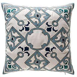 Bombay® Shinto Lattice Outdoor Square Throw Pillow in Cream