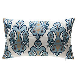 Bombay® Tribal Elements Outdoor Oversize Lumbar Pillow in Cream/Blue