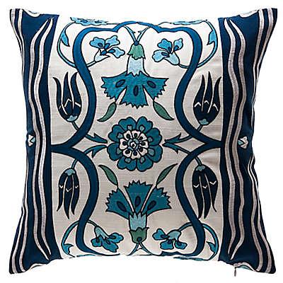Bombay® Carmen Tulips Square Throw Pillow in Cream