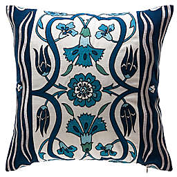 Bombay® Carmen Tulips Square Throw Pillow in Cream