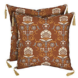 Bombay® Anatolia Square Outdoor Throw Pillows in Rust (Set of 2)