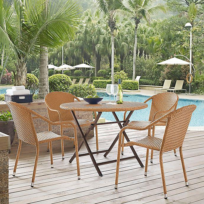 Alternate image 1 for Crosley Palm Harbor 5-Piece Café Dining Set in Light Brown