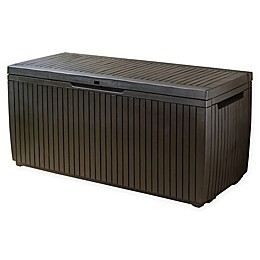 Keter Springwood 80-Gallon Deck Storage Box in Espresso Brown