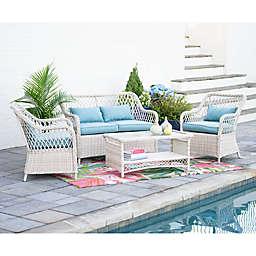 Leisure Made Lakeland 4-Piece Outdoor Patio Conversation Set in Blue