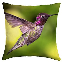 Selections by Arden Hummingbird Flight Square Outdoor Throw Pillow in Green