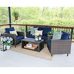 Leisure Made Draper 4-Piece Outdoor Conversation Set
