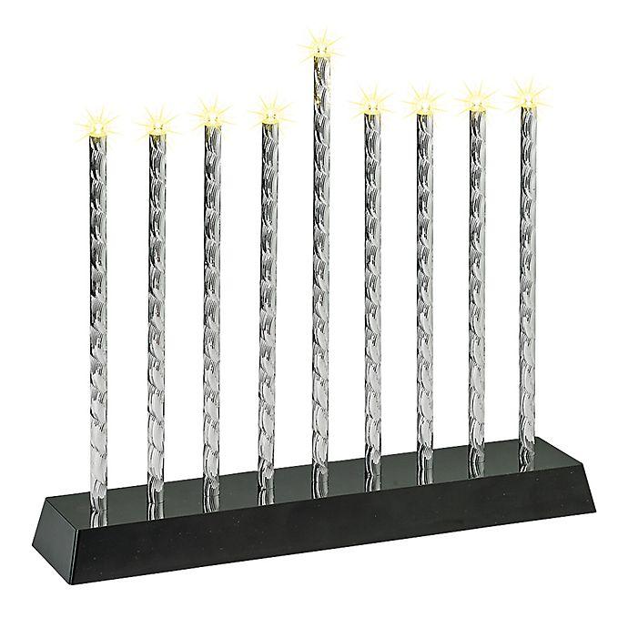 Alternate image 1 for Hanukkah Lightshow Menorah in Silver