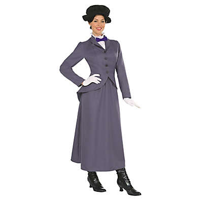 Mary Poppins 4-Piece Womens's X-Large Multicolor English Nanny Costume