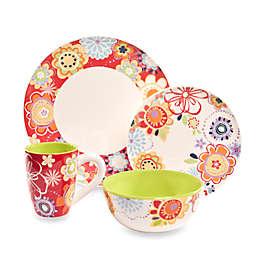 Euro Ceramica Floral Delight 14-Ounce Mugs (Set of 4)