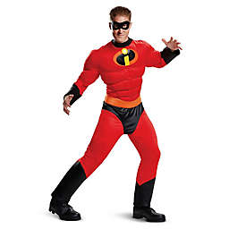 Mr. Incredible Classic Muscle Men's XXL Halloween Costume in Red