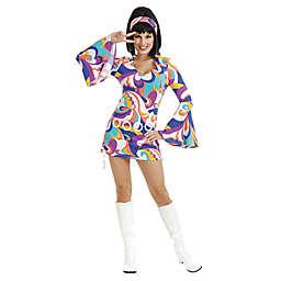 Women's Multicolor Disco Hottie Costume