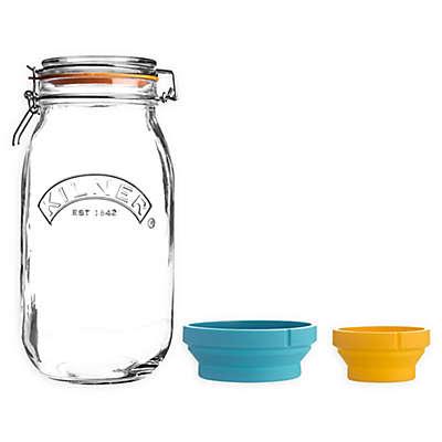 Kilner® Measure and Store 3-Piece Clip Top Jar Set