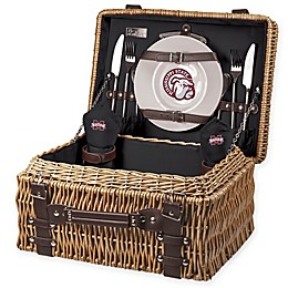 Mississippi State University Champion Picnic Basket with Service for 2 in Black