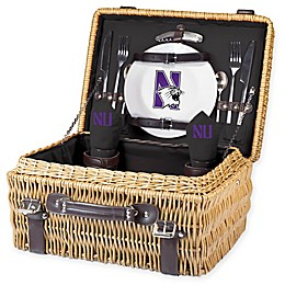 Northwestern University Champion Picnic Basket with Service for 2 in Black