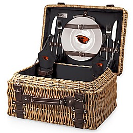 Purdue University Champion Picnic Basket with Service for 2 in Black