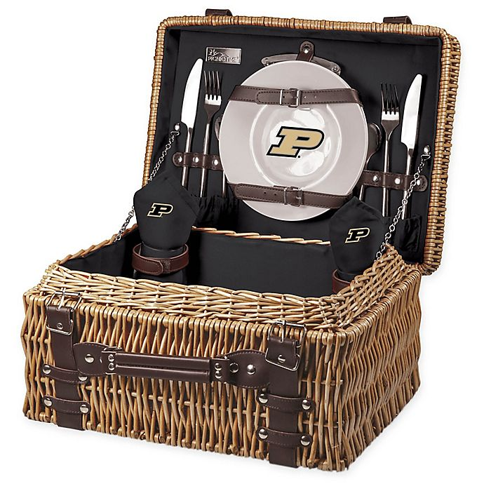 Alternate image 1 for University of South Carolina Champion Picnic Basket with Service for 2 in Black