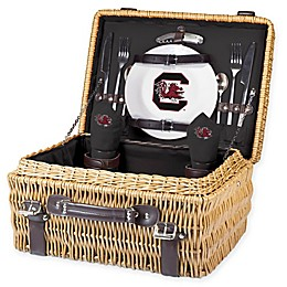 University of South Carolina Champion Picnic Basket with Service for 2 in Black