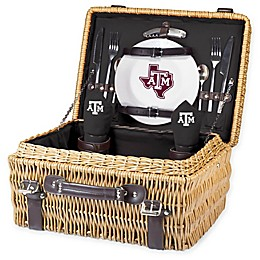 Texas A&M University Champion Picnic Basket with Service for 2 in Black