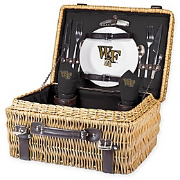 Wake Forest University Champion Picnic Basket with Service for 2 in Black