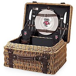 University of Wisconsin-Madison Champion Picnic Basket with Service for 2 in Black