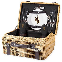 University of Wyoming Champion Picnic Basket with Service for 2 in Black
