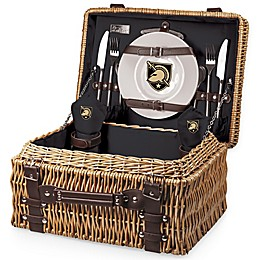 United States Military Academy Champion Picnic Basket with Service for 2 in Black