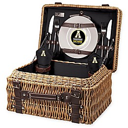 Appalachian State University Champion Picnic Basket with Service for 2 in Black