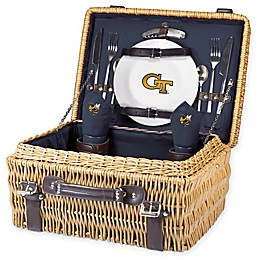 Georgia Tech University Champion Picnic Basket with Service for 2 in Navy