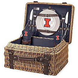 University of Illinois Champion Picnic Basket with Service for 2 in Navy