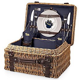 University of Pittsburgh Champion Picnic Basket with Service for 2 in Navy