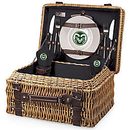 Colorado State University Champion Picnic Basket with Service for 2 in Black
