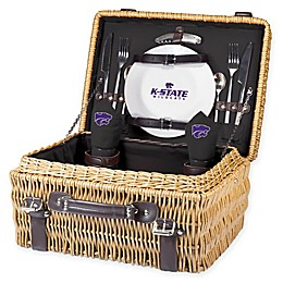 Kansas State University Champion Picnic Basket with Service for 2 in Black