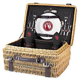University of Oklahoma Champion Picnic Basket with Service for 2