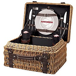 University of Arkansas Champion Picnic Basket with Service for 2