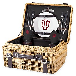 Indiana University Champion Picnic Basket with Service for 2