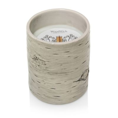 Woodwick 174 Snowberry Birch Ceramic Candle Bed Bath Amp Beyond