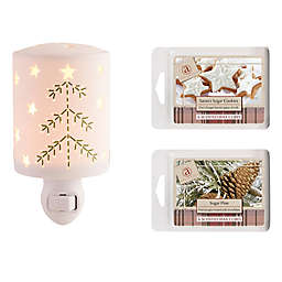 AmbiEscents Stitchery Plug-In Fragrance Wax Wall Warmer with 12 Wax Cubes