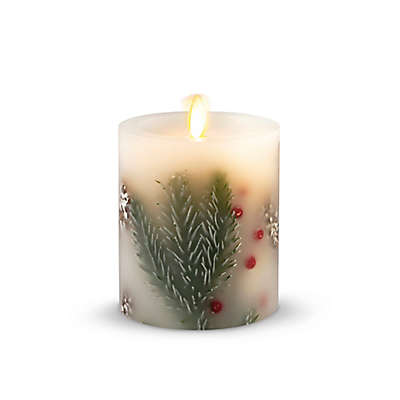 Luminara® Spruce Berry Real-Flame Effect Pillar Candle