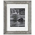 Rustic Impressions 8-Inch x 10-Inch Three-Opening Matted Wood Frame in Aged Silver