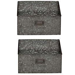 Kate and Laurel™ Galvaston Pocket Shelf Organizers in Silver (Set of 2)