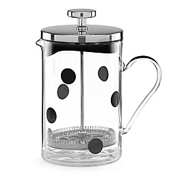 Kate Spade All In Good Taste™ 26 oz. Deco Dot Glass French Press