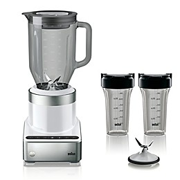 Braun Puremix 56 oz. Stainless Steel Blender in White