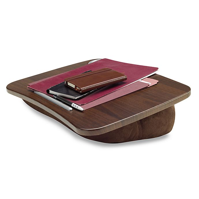 Brookstone E Pad Portable Laptop Desk In Chocolate