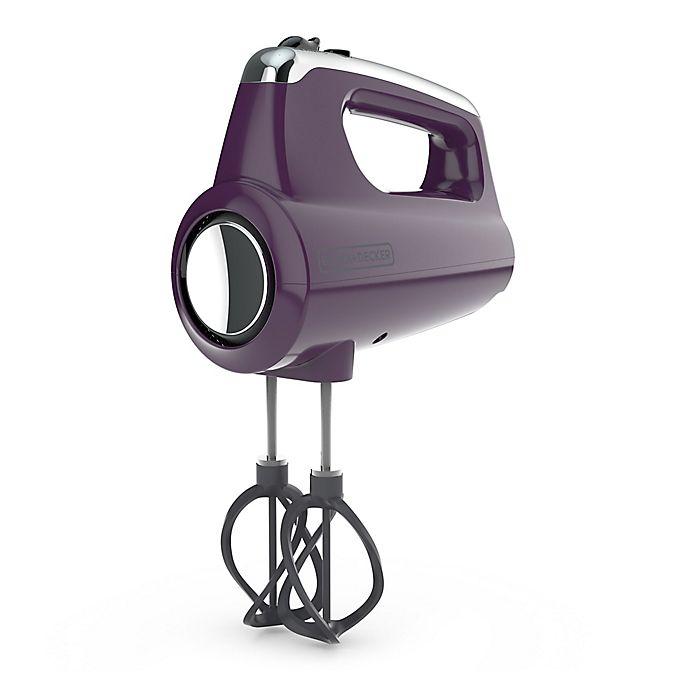 Alternate image 1 for Black & Decker™ Helix Performance Premium Hand Mixer in Purple