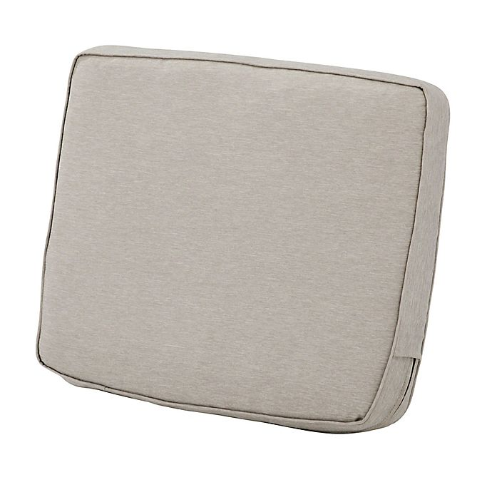 Alternate image 1 for Classic Accessories® Montlake™ Fadesafe 21-Inch Patio Lounge Back Cushion in Grey