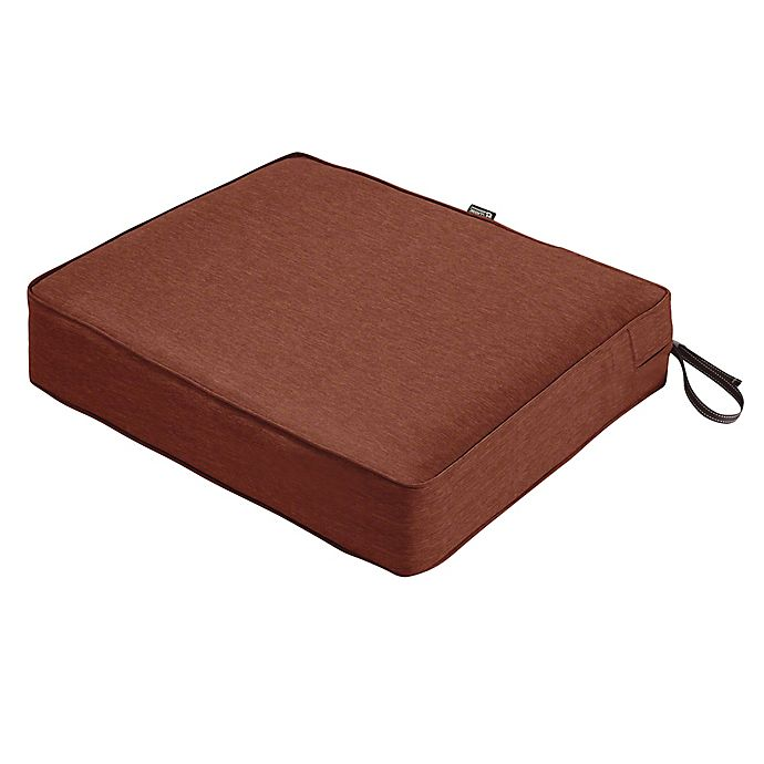 Alternate image 1 for Classic Accessories® Montlake™ Fadesafe Rectangular Patio Dining Seat Cushion in Red