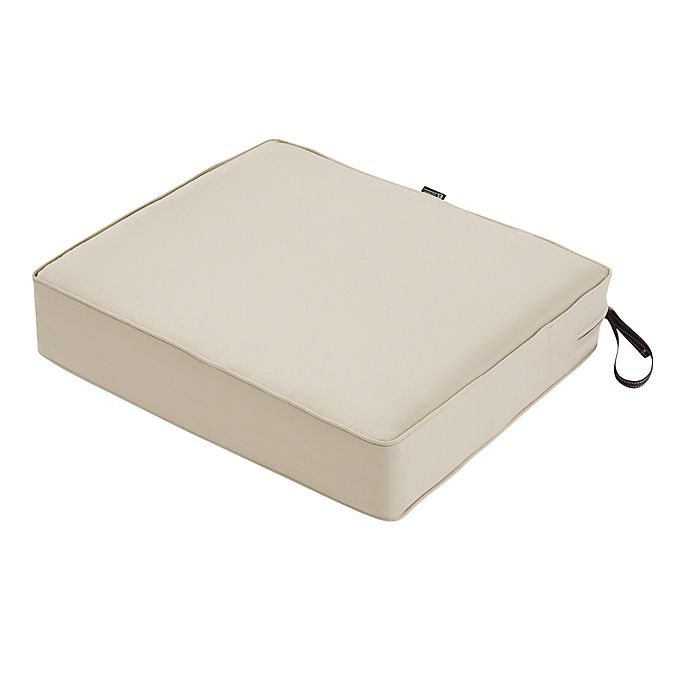 Alternate image 1 for Classic Accessories® Montlake™ Fadesafe Rectangular Patio Dining Seat Cushion in Beige