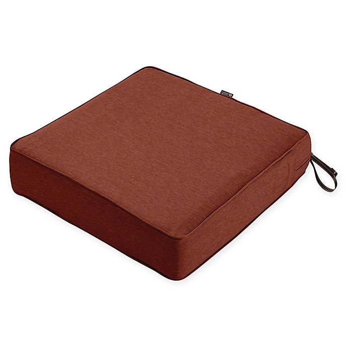 Alternate image 1 for Classic Accessories® Montlake™ Fadesafe Square Patio Lounge Seat Cushion in Red